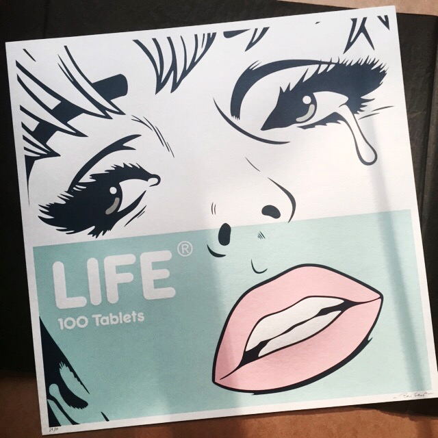 hand signed and numbered benfrostisdead life print