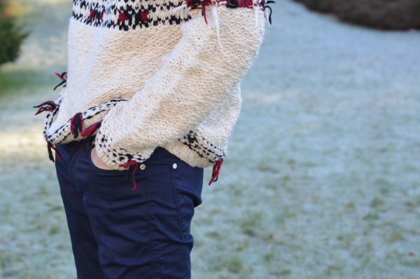 details of isabel marant jumper and acne studios jeans