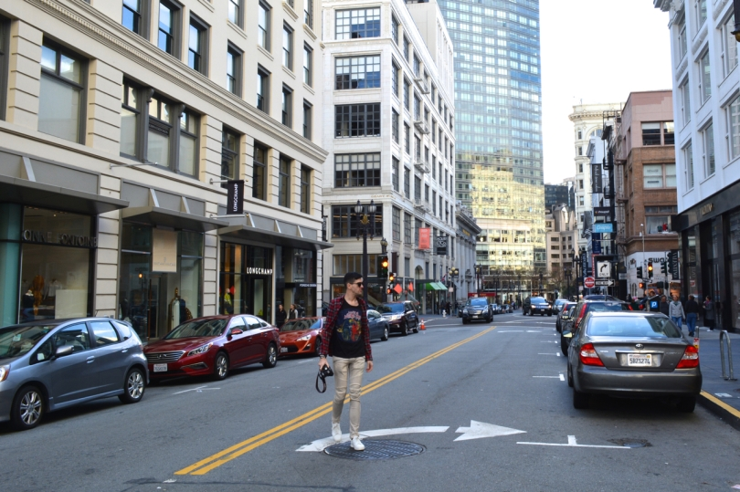 samuel from styleoversubstances.com walking through the streets of San Francisco