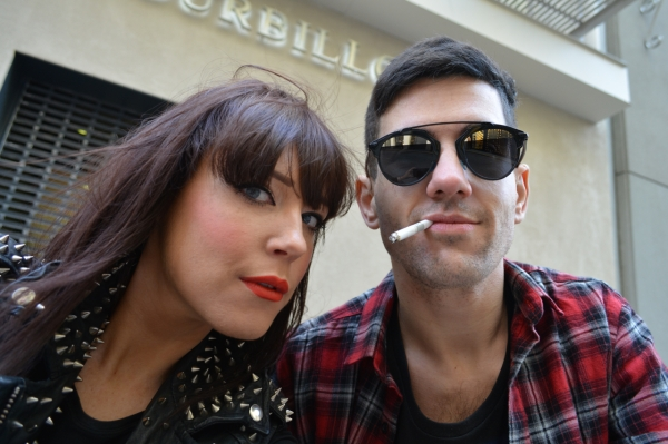 selfie sat on the curb smoking with lornaluxe
