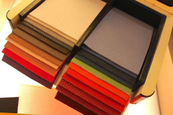 selection of Fendi coloured Romano leathers for the made to order service