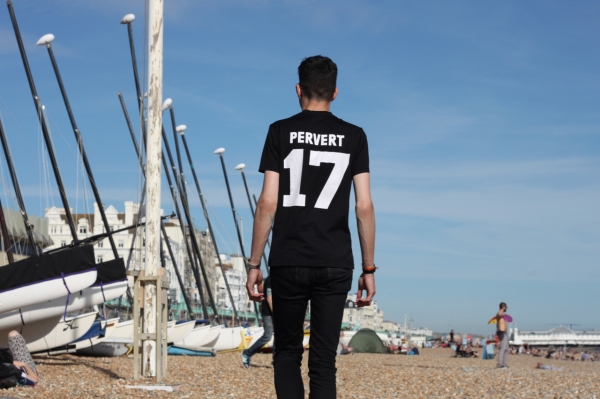 back view of black Givenchy pervert 17 t shirt