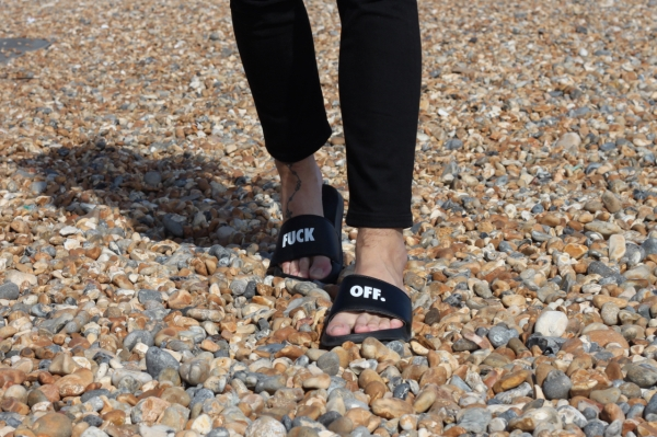 black raised by wolves fuck off pool slides on brighton beach